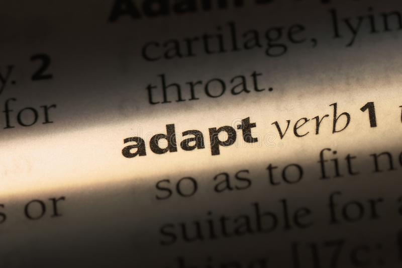 adapt stock fotografie