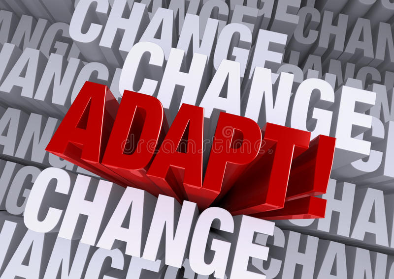 Adapt When Surrounded By Change Stock Illustration