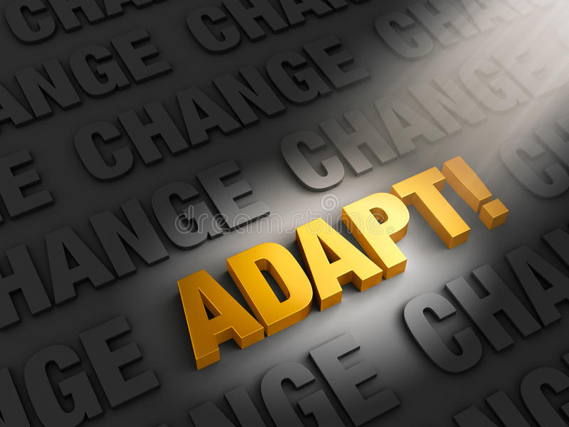 Adapt to Confront Change vector illustration