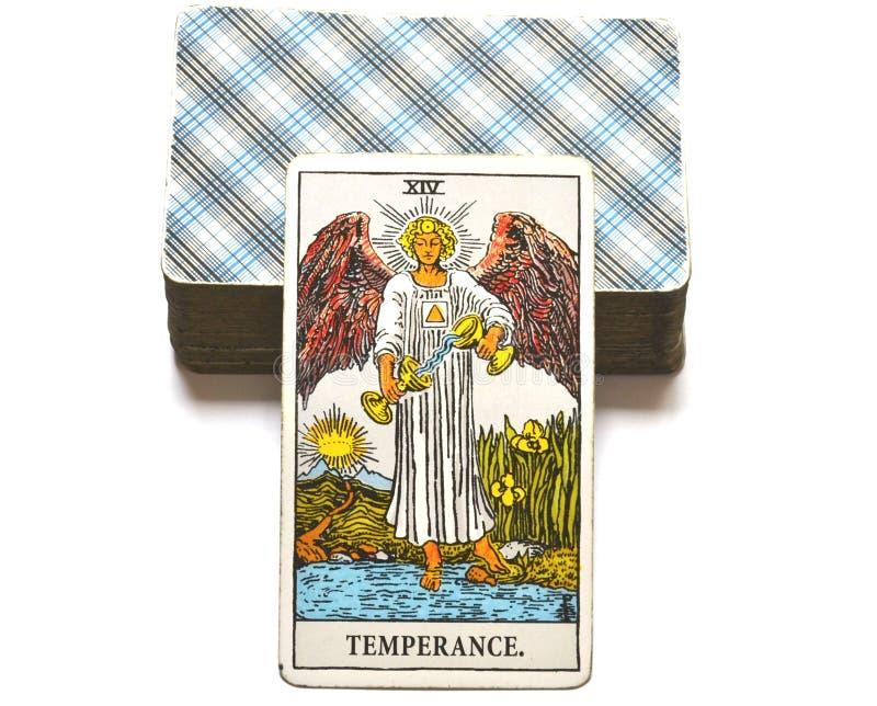 Adaptação cura da harmonia do cartão de tarô da moderação ilustração royalty free