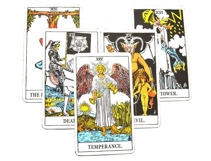 Adaptação cura da harmonia do cartão de tarô da moderação ilustração do vetor