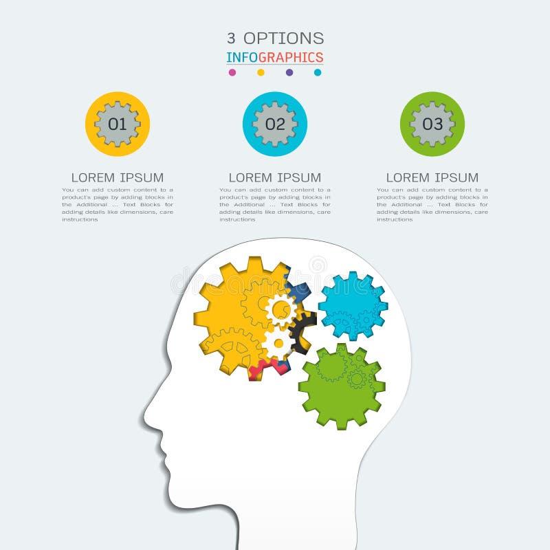 Adapta la plantilla infographic para la presentación del negocio, plan estratégico para definir valores de la compañía ilustración del vector