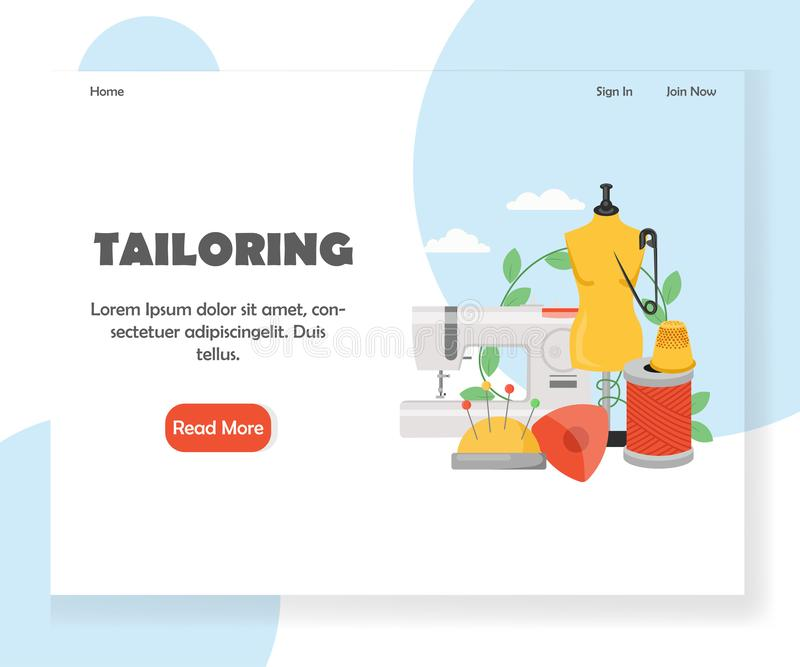 Adaptación de la plantilla del diseño de la página del aterrizaje de la página web del vector stock de ilustración