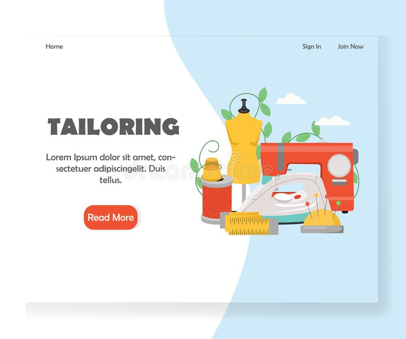 Adaptación de la plantilla del diseño de la página del aterrizaje de la página web del vector libre illustration