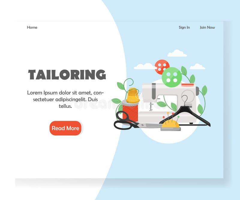 Adaptación de la plantilla del diseño de la página del aterrizaje de la página web del vector ilustración del vector