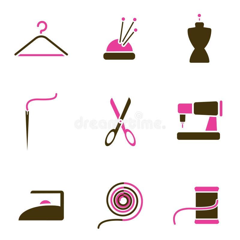 Adaptación del conjunto del icono del objeto stock de ilustración