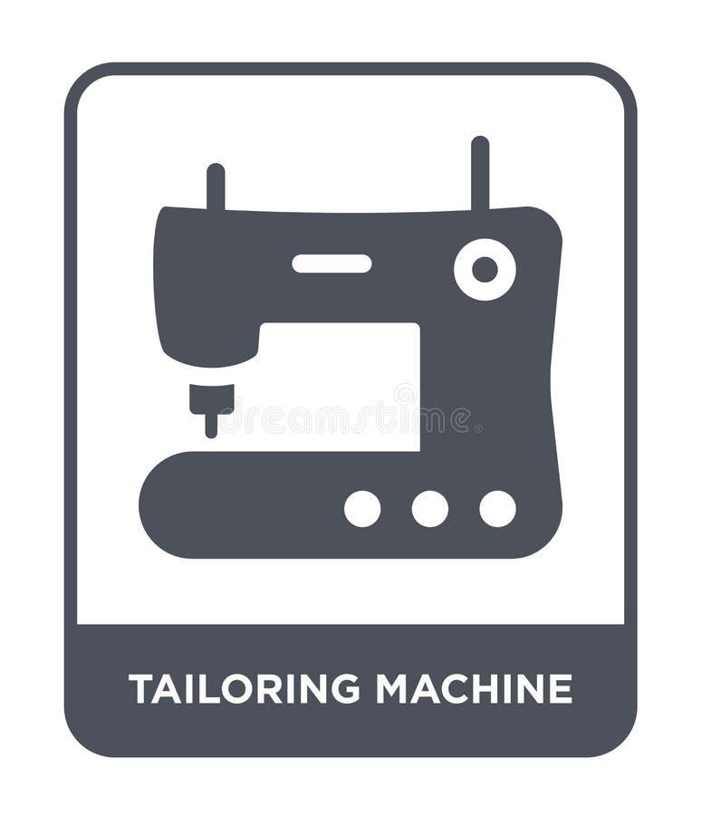 adaptación del icono de la máquina en estilo de moda del diseño adaptando el icono de la máquina aislado en el fondo blanco adapt libre illustration