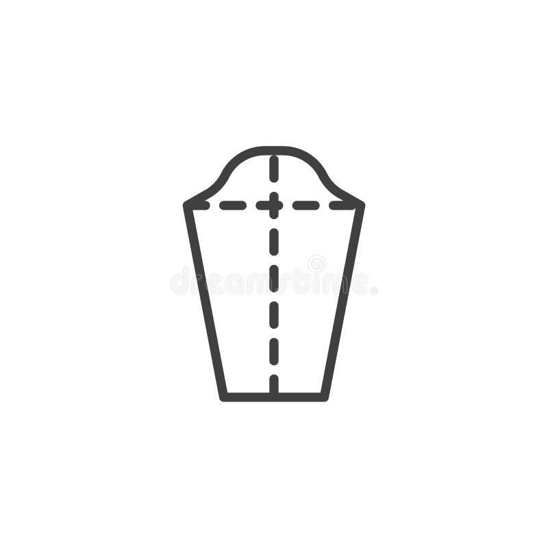 Adaptación, línea icono de la tela stock de ilustración