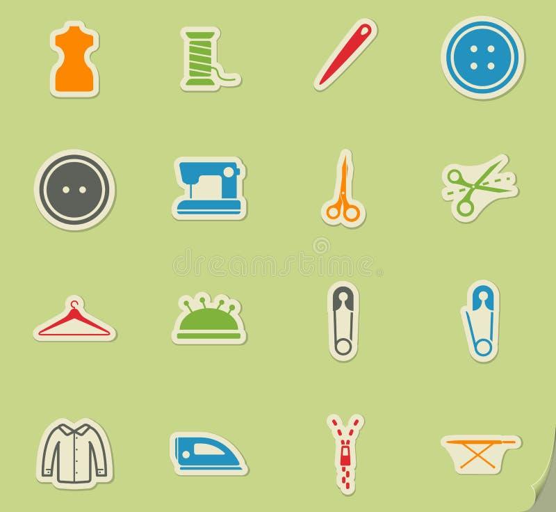 Adaptación simplemente de iconos ilustración del vector