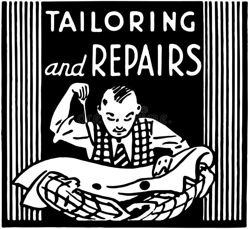Adaptación y reparaciones stock de ilustración