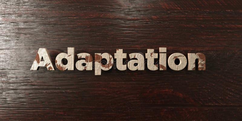 Adaptacja - grungy drewniany nagłówek na klonie - 3D odpłacający się królewskość bezpłatny akcyjny wizerunek ilustracji