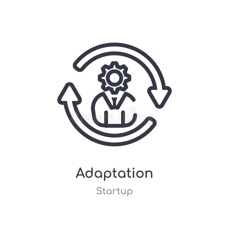 adaptacja konturu ikona odosobniona kreskowa wektorowa ilustracja od pocz?tkowej kolekcji editable cienieje uderzenie adaptacji i ilustracja wektor