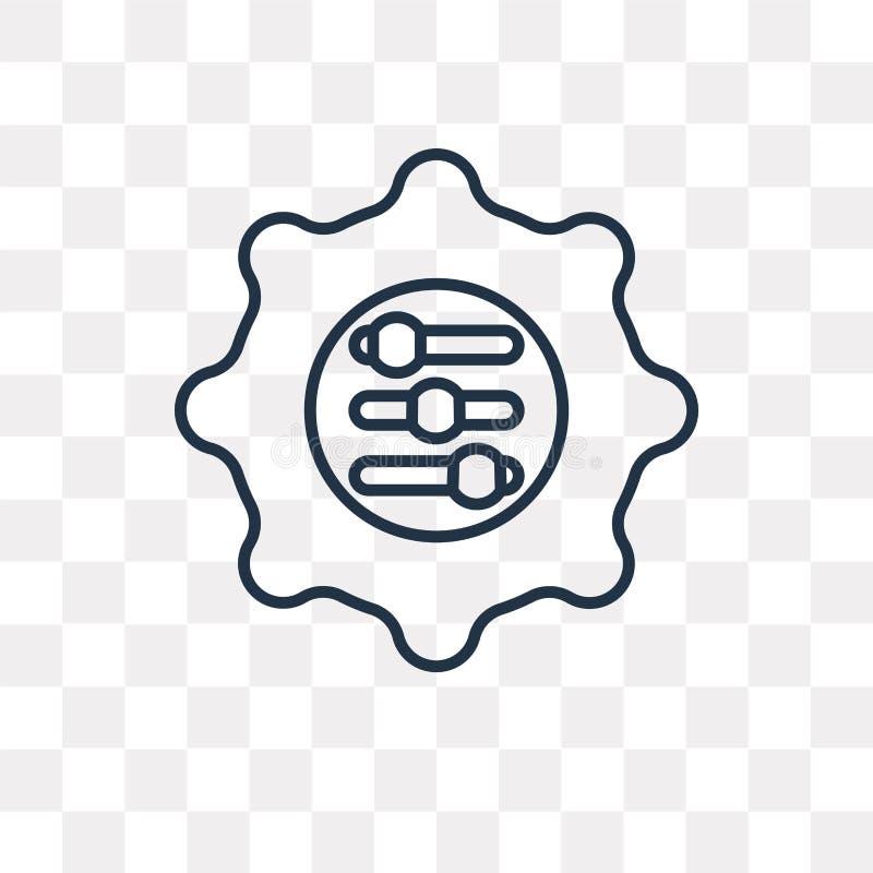Adaptacji wektorowa ikona odizolowywająca na przejrzystym tle, linea royalty ilustracja