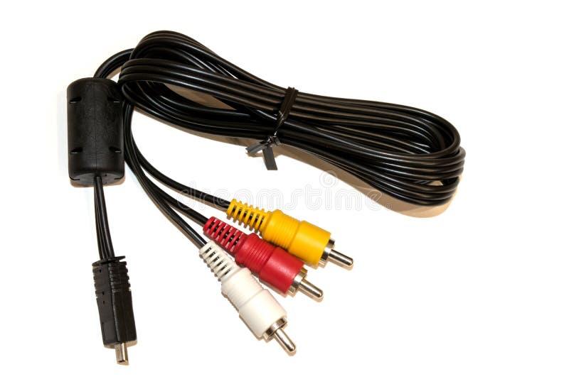 Adaptador audio/video VHS de la captura del USB a la tarjeta del hdd TV del DVD en un fondo blanco fotografía de archivo