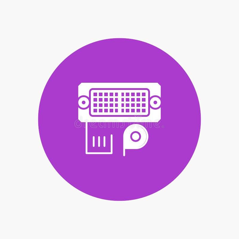 Adaptador, conexión, datos, entrada stock de ilustración