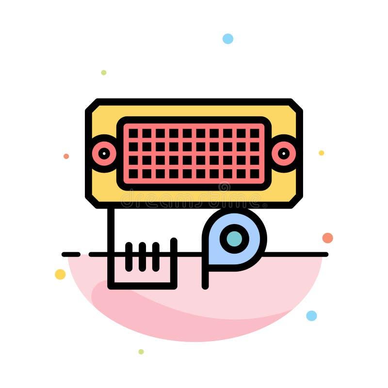 Adaptador, conexión, datos, plantilla plana abstracta entrada del icono del color stock de ilustración