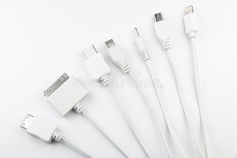 Adaptador de enchufes de carga de diverso teléfono móvil del USB fotos de archivo libres de regalías
