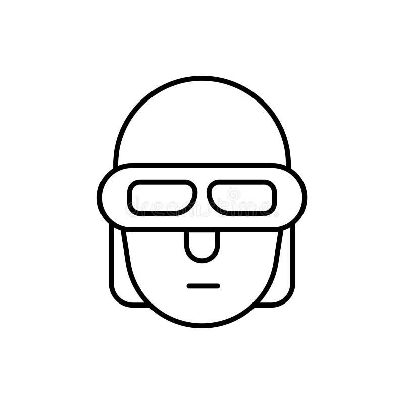 Adaptador, icono elegante - vector Inteligencia artificial libre illustration