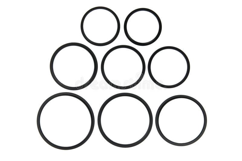 Adaptadores do anel do filtro da lente imagens de stock royalty free