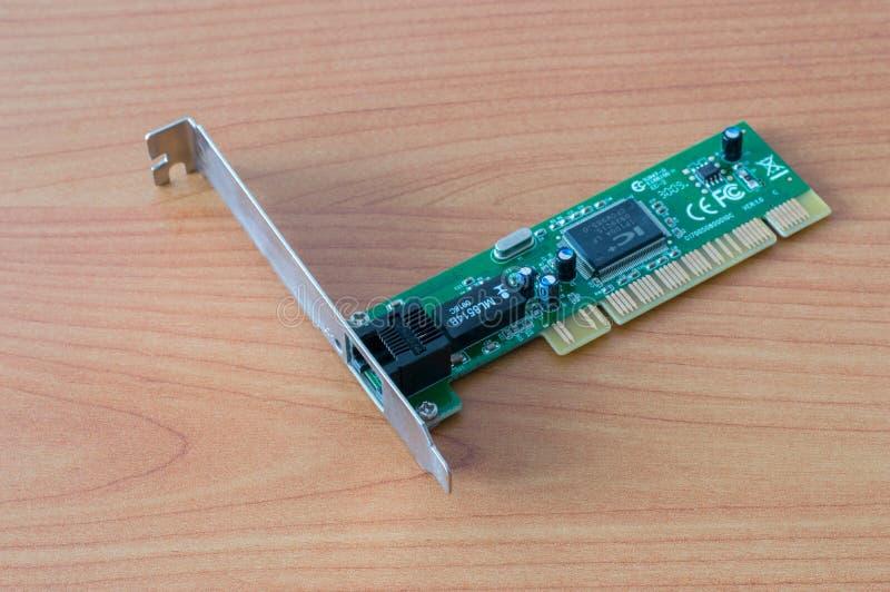 Adaptateur réseau rapide d'Ethernet de PCI d'ASUS NX1001 photo libre de droits