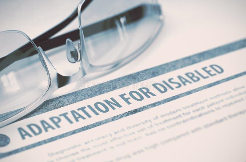 Adaptation pour des handicapés médecine illustration 3D photo stock