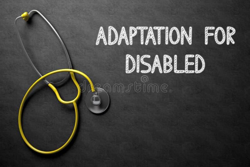 Adaptation pour handicapé sur le tableau illustration 3D photos libres de droits