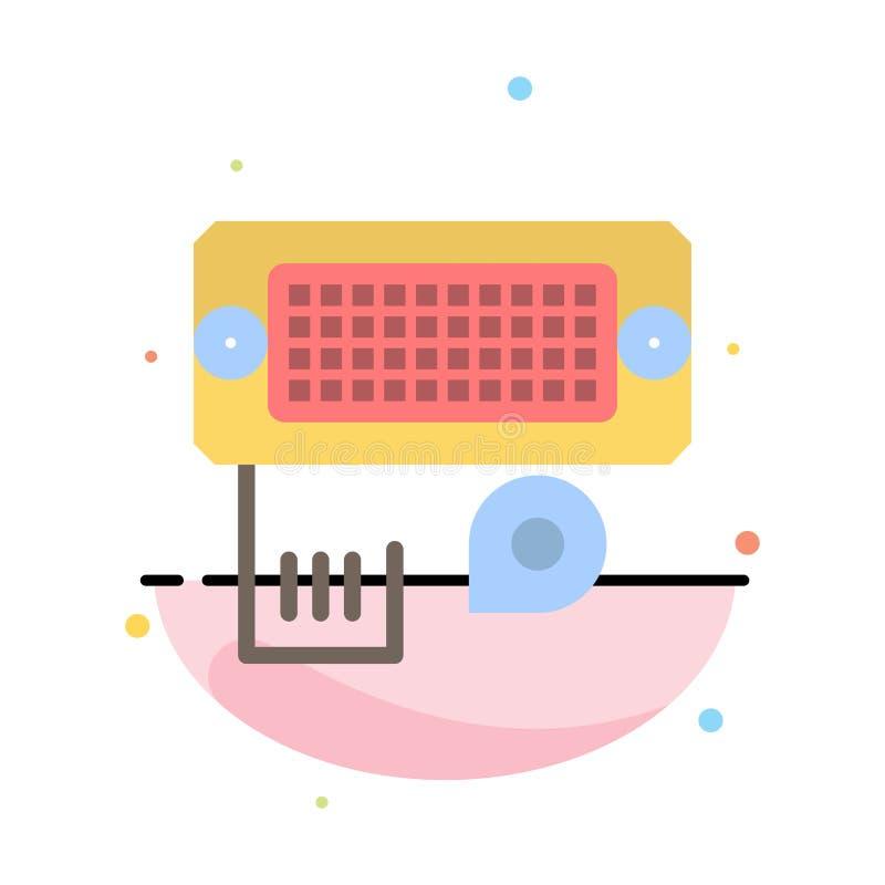 Adaptator, związek, dane, wkładu koloru ikony Abstrakcjonistyczny Płaski szablon royalty ilustracja