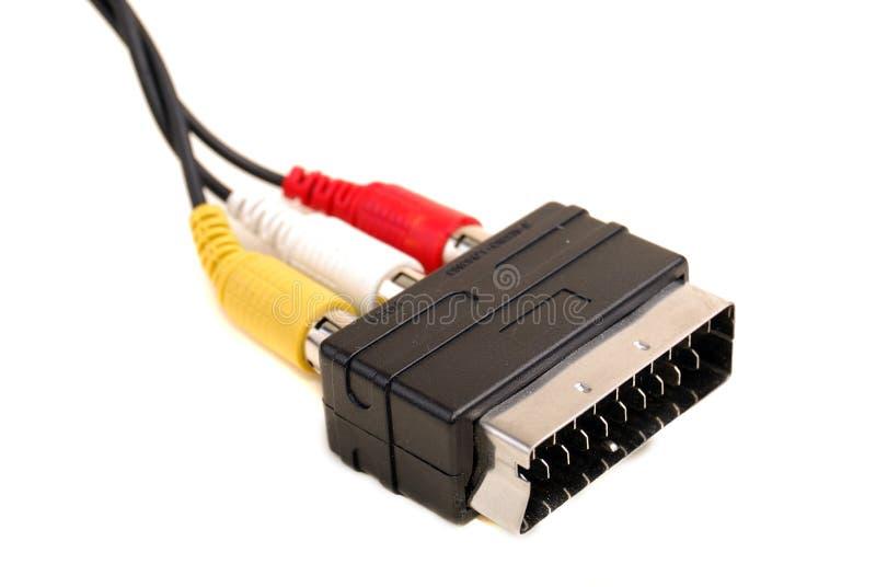 adaptatoru audio rca scart wideo fotografia stock