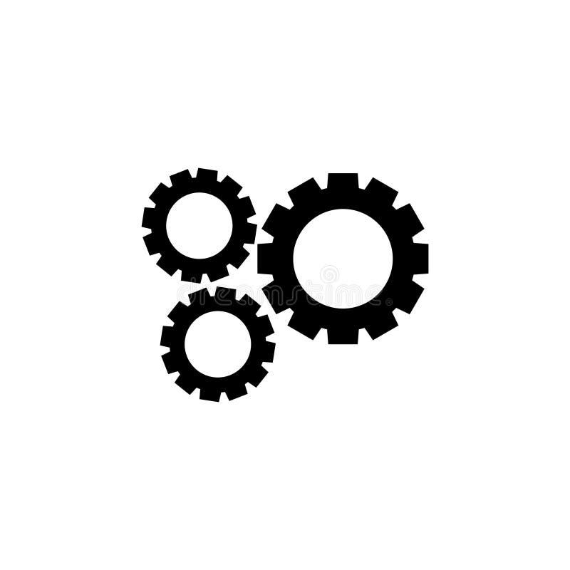 Adapte el diseño gráfico del ejemplo del vector del icono del pedazo de la maquinaria libre illustration