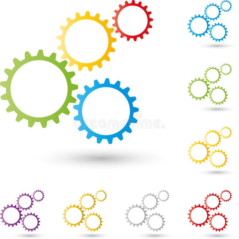 Adapte, los engranajes logotipo, mecánicos, logotipo de los cerrajeros libre illustration