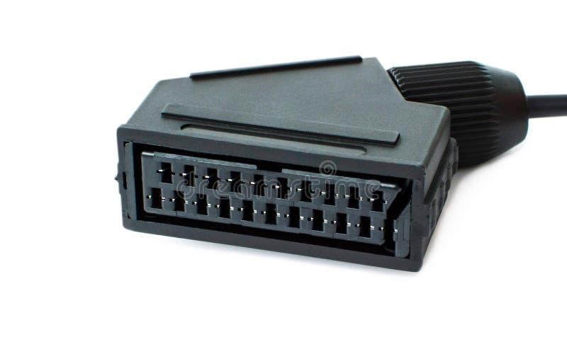 Adapter SCART för multimediaplayback royaltyfri fotografi