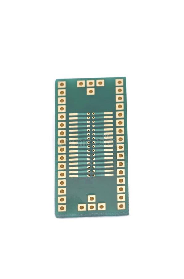 Adapter SMD, DOPP på vit bakgrund royaltyfria foton