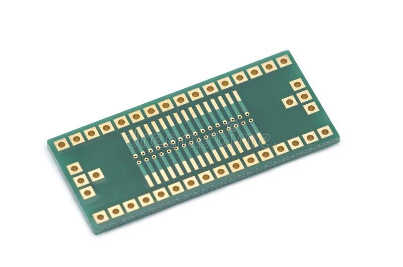 Adapter SMD, DOPP på vit bakgrund arkivfoton