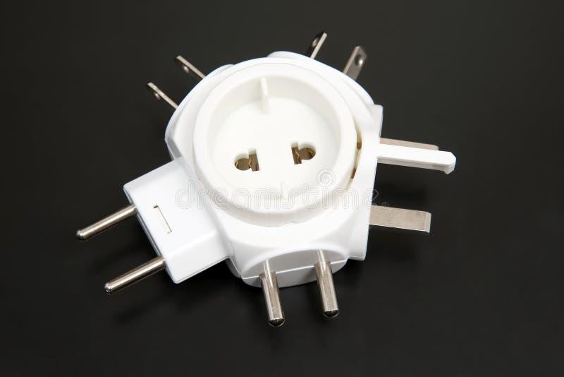 Adapter voor verschillende elektrostoppen royalty-vrije stock foto's
