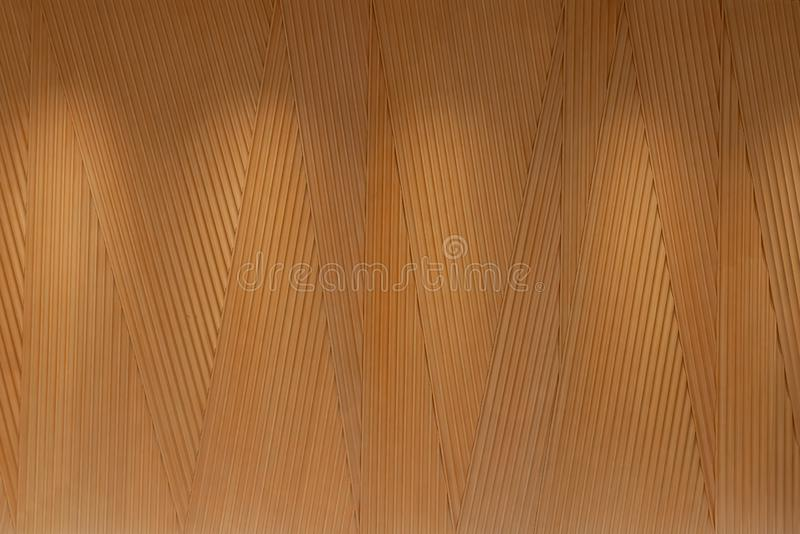 Adaptez le panneau aux besoins du client en bois dans la ligne aléatoire de triangle par technique de commande numérique par ordi photographie stock libre de droits