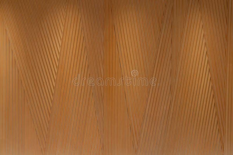 Adaptez le panneau aux besoins du client en bois dans la ligne aléatoire de triangle par technique de commande numérique par ordi images stock