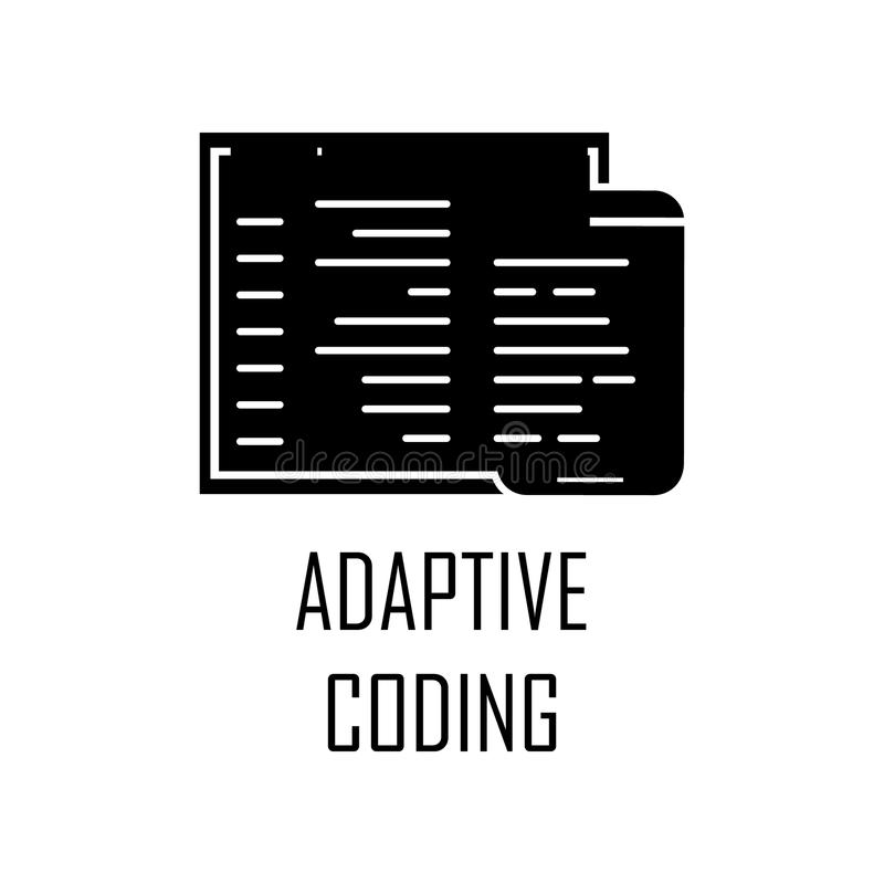 Adaptive coding icon. Element of Web Development for mobile concept and web apps. Detailed adaptive coding icon can be used for we. B and mobile. Premium icon on vector illustration