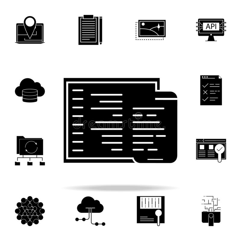 Adaptive coding icon. Web Development icons universal set for web and mobile. On white background stock illustration