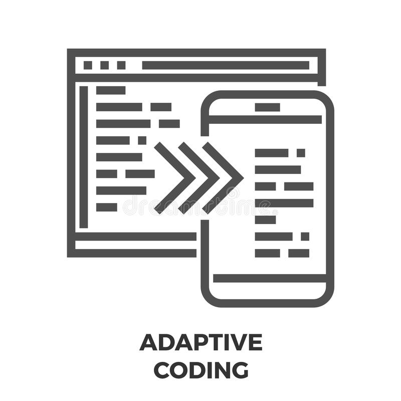 Adaptive Coding Line Icon royalty free illustration