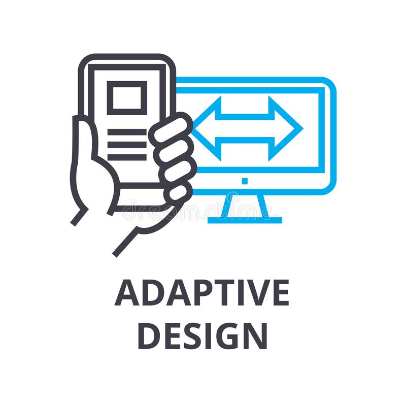 Adaptive design thin line icon, sign, symbol, illustation, linear concept, vector vector illustration