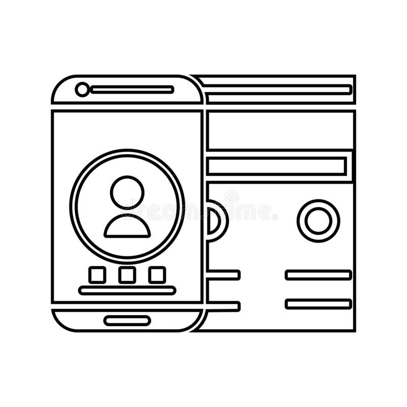 adaptive interface icon. Element of cyber security for mobile concept and web apps icon. Thin line icon for website design and vector illustration