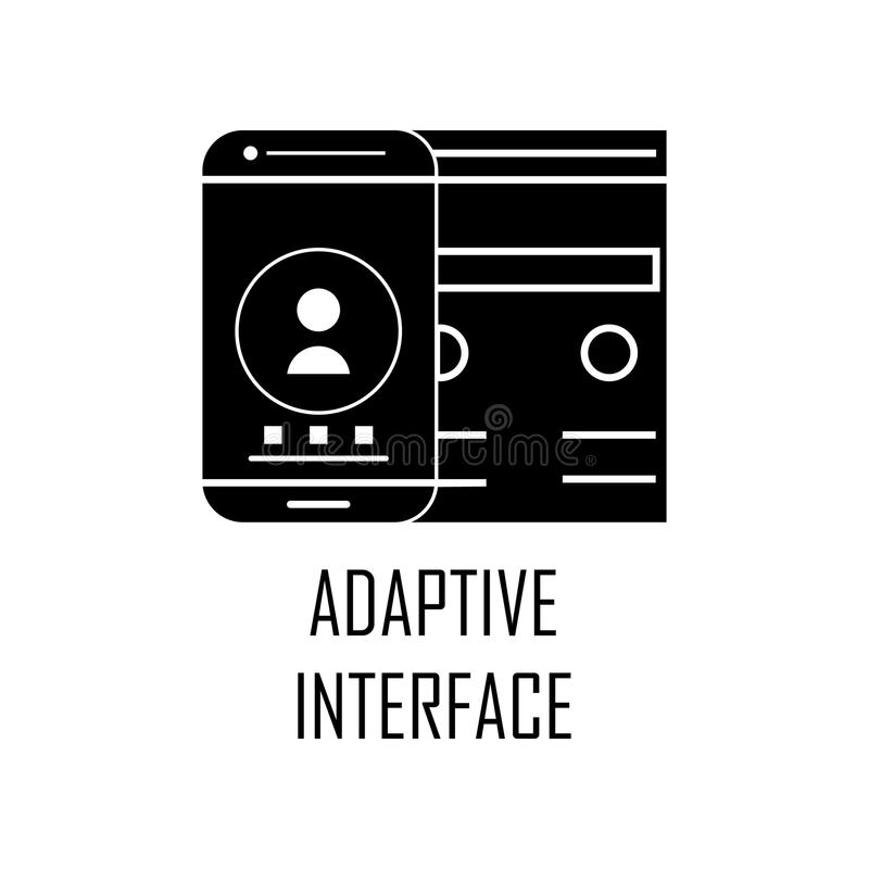adaptive interface icon. Element of Web Development for mobile concept and web apps. Detailed adaptive interface icon can be used vector illustration