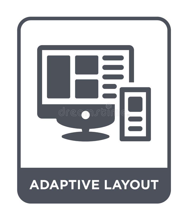 adaptive layout icon in trendy design style. adaptive layout icon isolated on white background. adaptive layout vector icon simple stock illustration