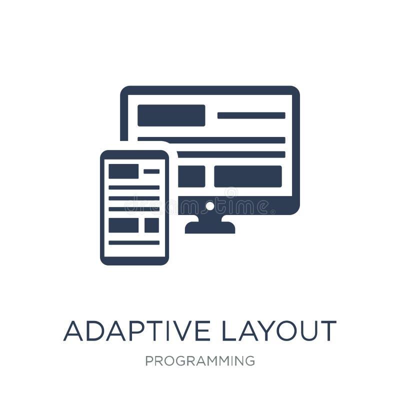 Adaptive Layout icon. Trendy flat vector Adaptive Layout icon on stock illustration