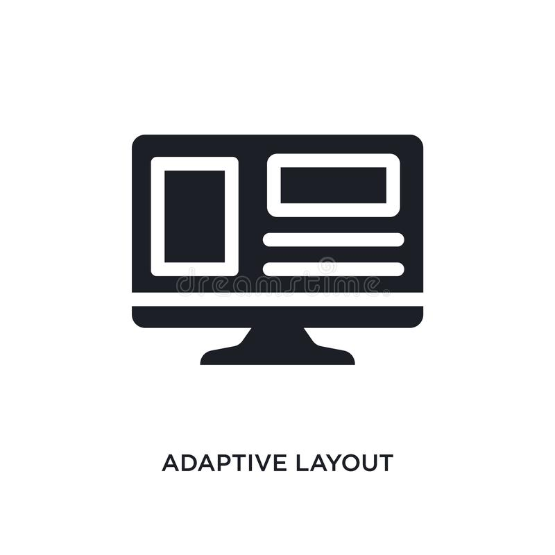 adaptive layout isolated icon. simple element illustration from programming concept icons. adaptive layout editable logo sign vector illustration