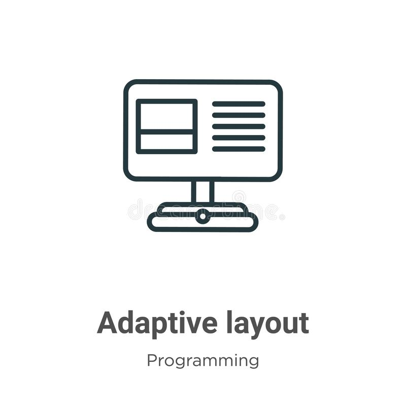 Adaptive layout outline vector icon. Thin line black adaptive layout icon, flat vector simple element illustration from editable vector illustration