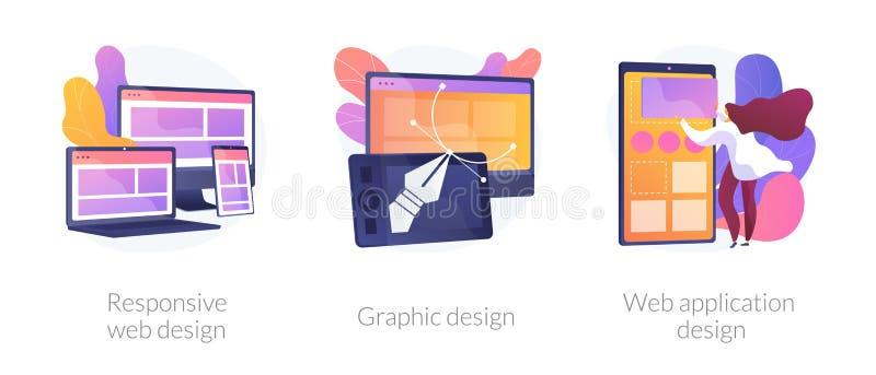 Web development vector concept metaphors vector illustration