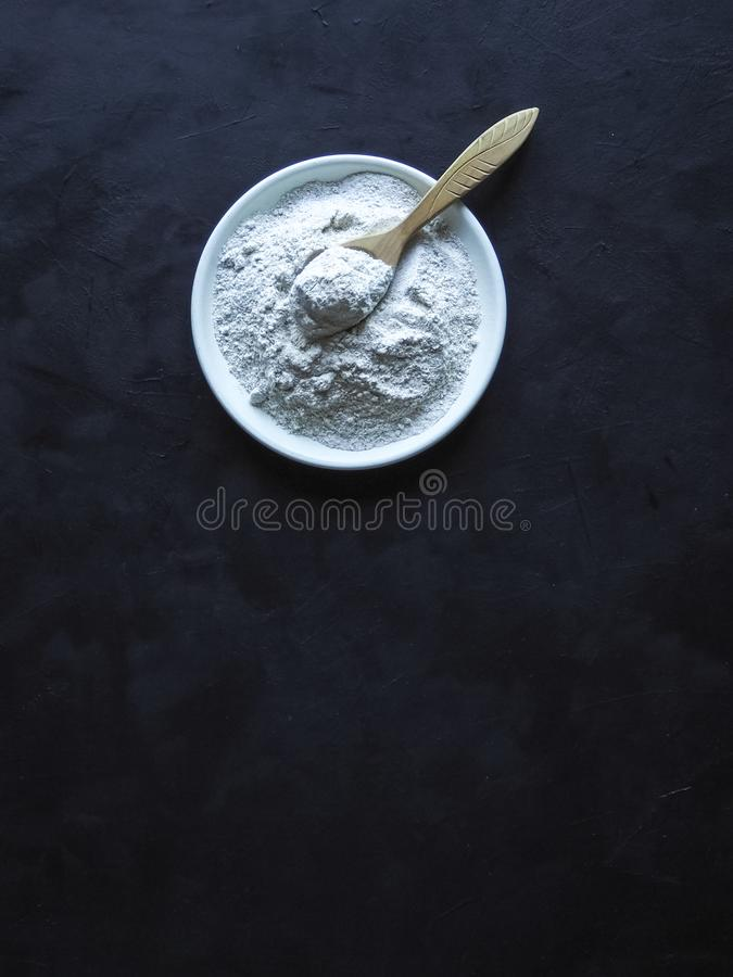 Adaptogens Ashwagandha in a bowl. Nutrition supplement. Adaptogens Ashwagandha in a bowl. Nutrition supplement stock photography