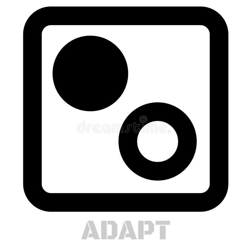 Adaptuje pojęcie ikonę na bielu ilustracji