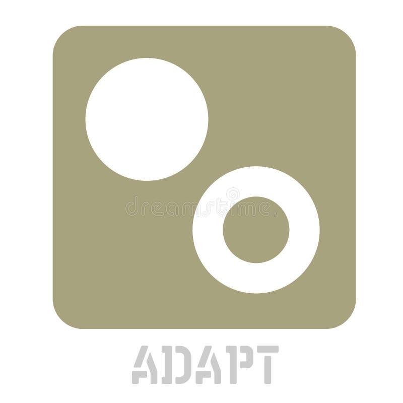 Adaptuje pojęcie ikonę na bielu ilustracja wektor